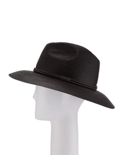 Rope-Trimmed Fedora Hat