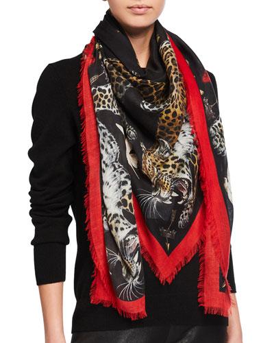 Regal Leopard Shawl