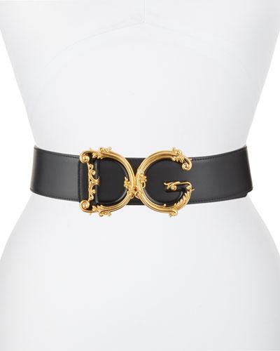 Baroque DG Logo Leather Belt