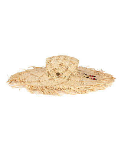 Ursula Open Raffia Large Brim Hat