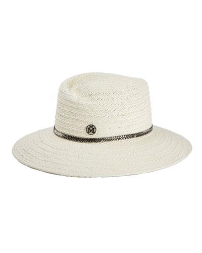 Virginie Herringbone Straw Hat
