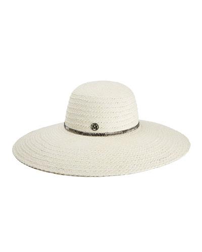 Blanche Herringbone Large Brim Hat