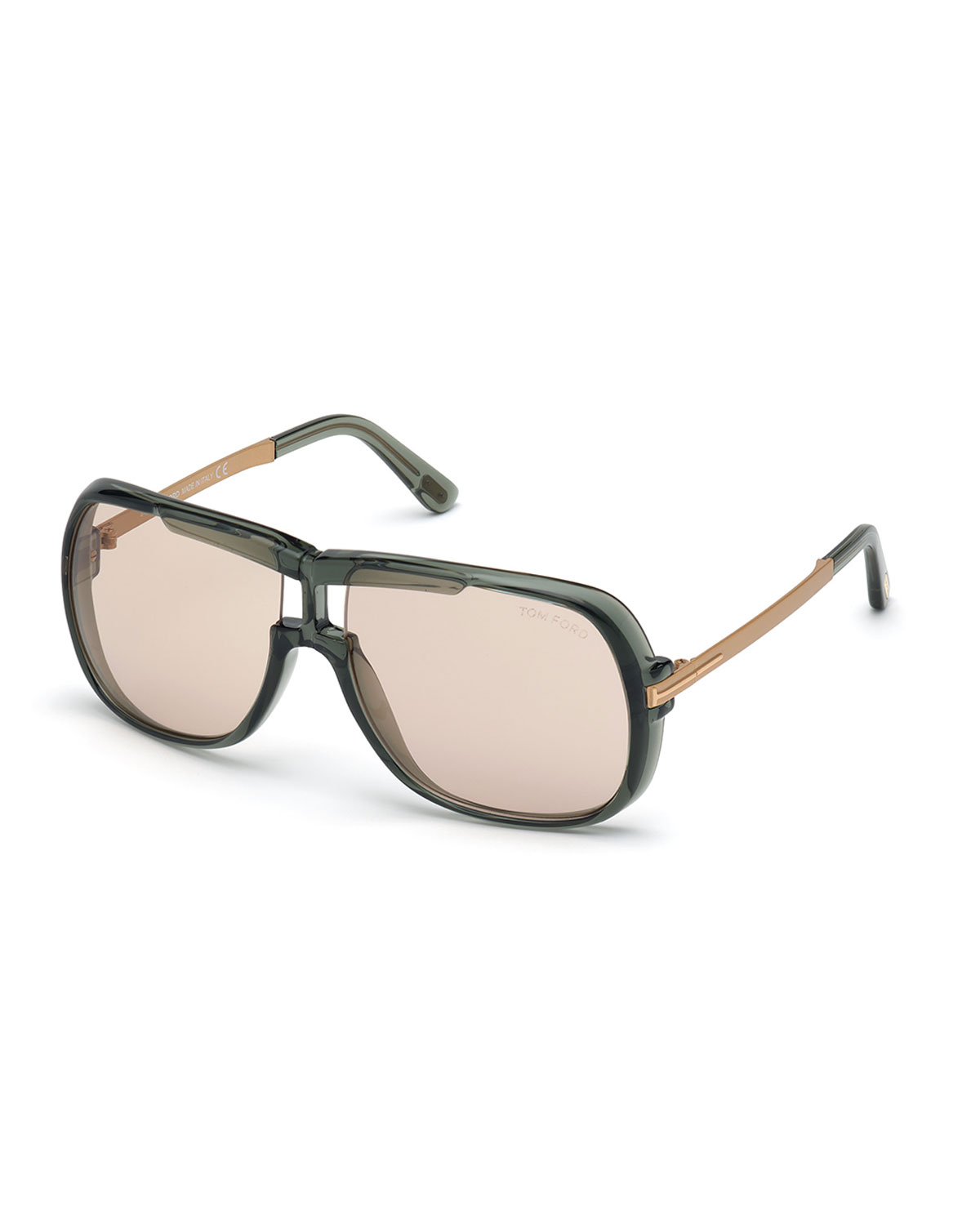Tom Ford Sunglasses Caine Acetate Square Sunglasses