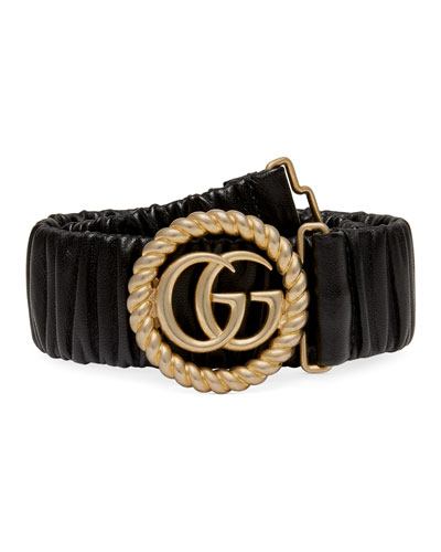 GG Ring Stretch Leather Belt