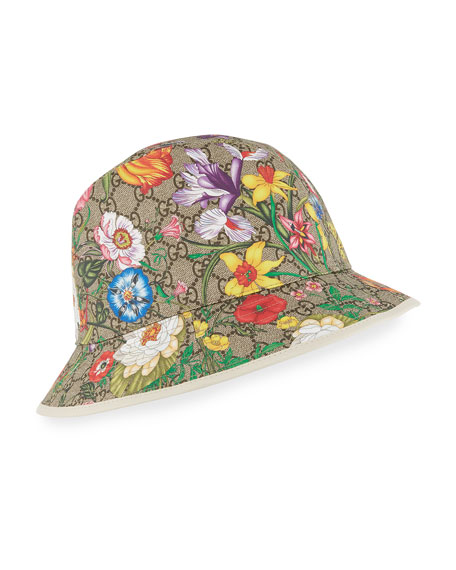 Image 1 of 1: GG Supreme Flora Bucket Hat