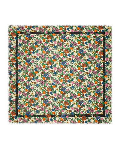 Pop Flora Wool Shawl