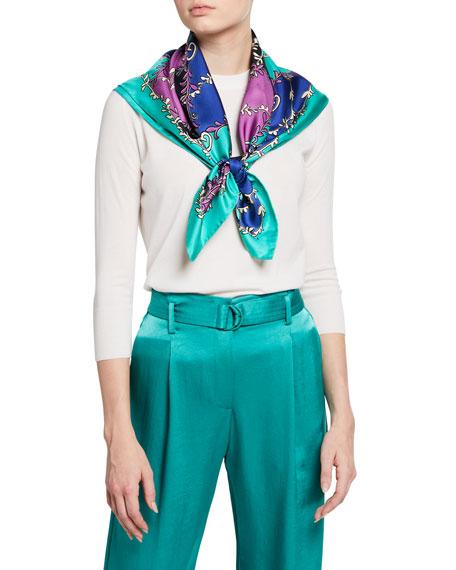 GG Rhombus Silk Scarf