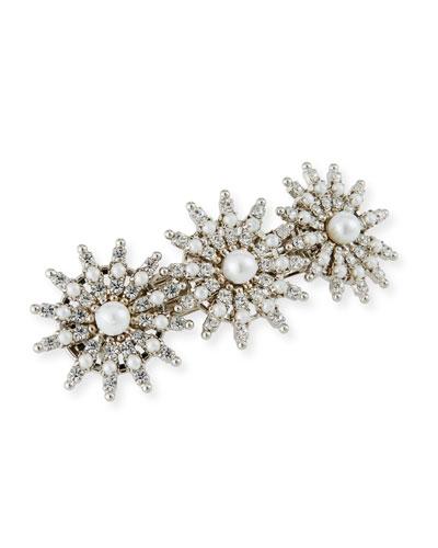 Pearly Crystal-Spike Hair Clip