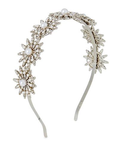 Pearly Crystal-Spike Headband