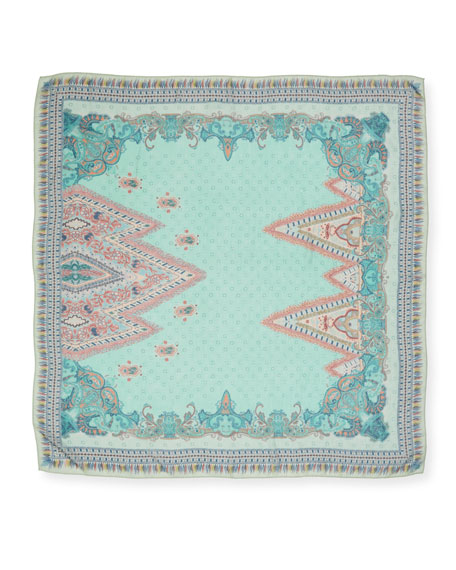 Diamond Print Cashmere Shawl