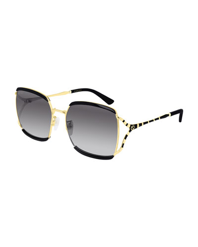 Oversized Square Injection Sunglasses