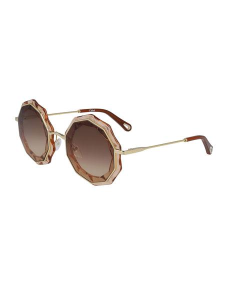 Caite Geometric Sunglasses