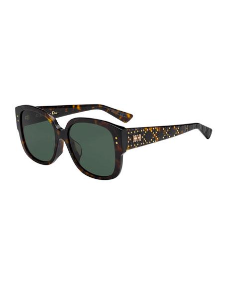 LadyDiorStuds Square Studded Sunglasses