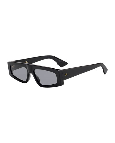 DiorPower Rectangle Acetate Sunglasses