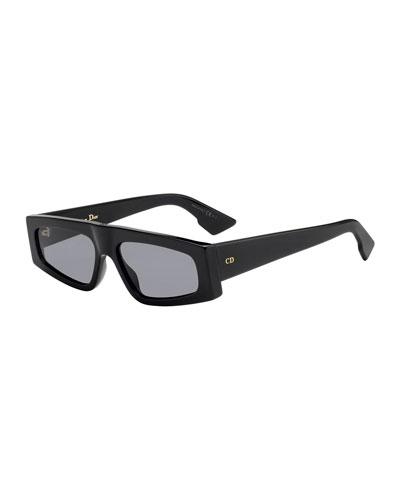 DiorPower Rectangle Acetate Sunglasses