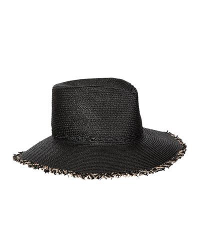 Mykonos Contrast Fringe Fedora Hat