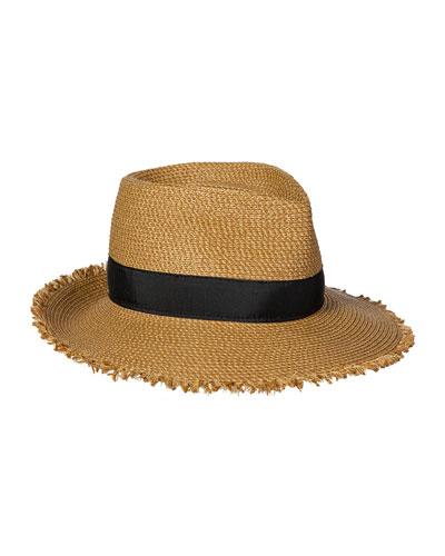 Fringe Pinch Fedora Hat