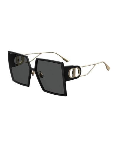 30Montaigne Square Sunglasses w/ Cutout Arms