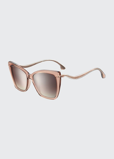 Selby Mirrored Butterfly Acetate Sunglasses