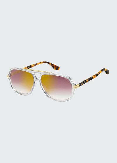 Square Two-Tone Acetate Sunglasses