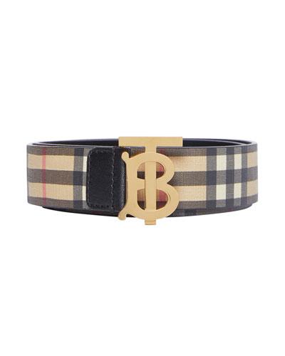 TB Vintage Check E-Canvas Belt