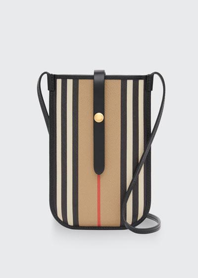 Anne Stripe Phone Crossbody Bag