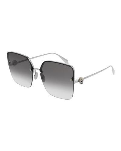 Rectangle Metal Sunglasses