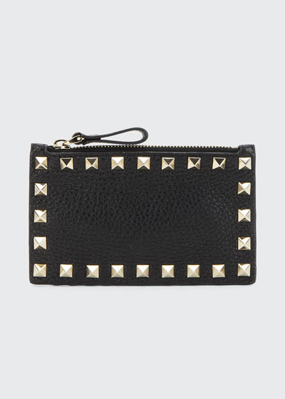 Rockstud Zip Coin Purse Card Case