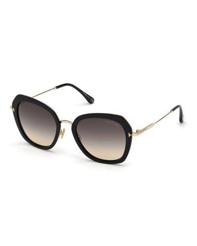 Kenyan Square Metal Sunglasses