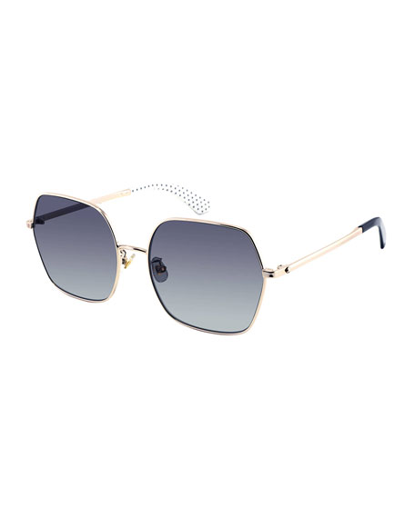 eloygs stainless steel square polarized sunglasses