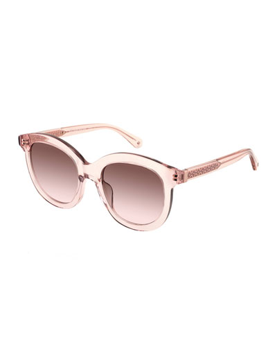 lilliangs round acetate sunglasses