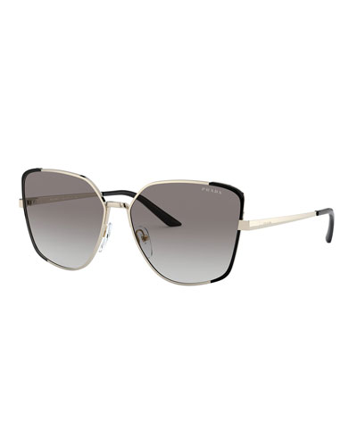 Cat-Eye Metal Sunglasses