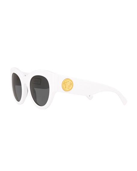 Acetate Monochromatic Cat-Eye Sunglasses