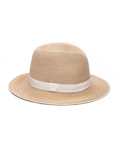 Lillian Toyo Packable Fedora Hat