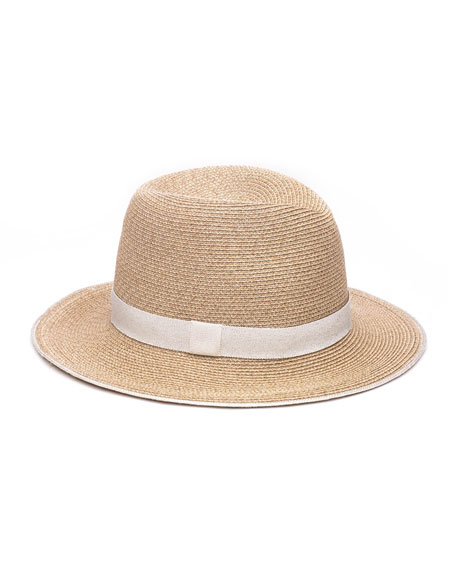 Lillian Toyo Packable Fedora Hat