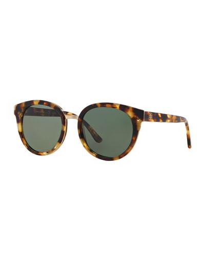 Eclectic Polarized Round Sunglasses