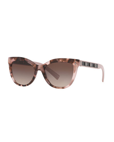 Rockstud Acetate Cat-Eye Sunglasses