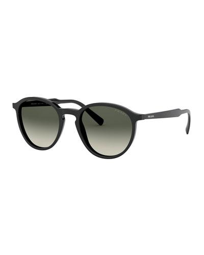 Thin Round Acetate Sunglasses