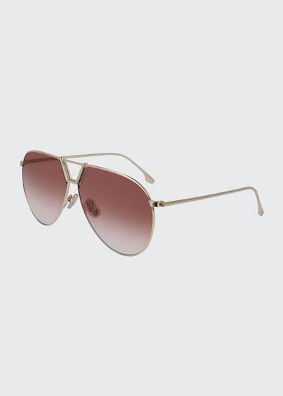 Classic V Oversize Aviator Sunglasses