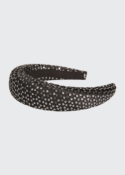 Miwa 3D Sequined Mesh Headband