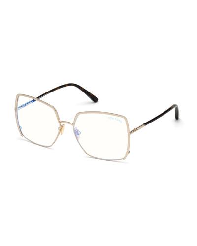 Square Metal Optical Glasses