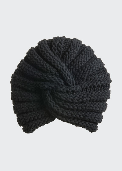 Diva Links Knit Cashmere Turban