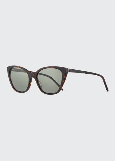 YSL Oversized Acetate Cat-Eye Sunglasses