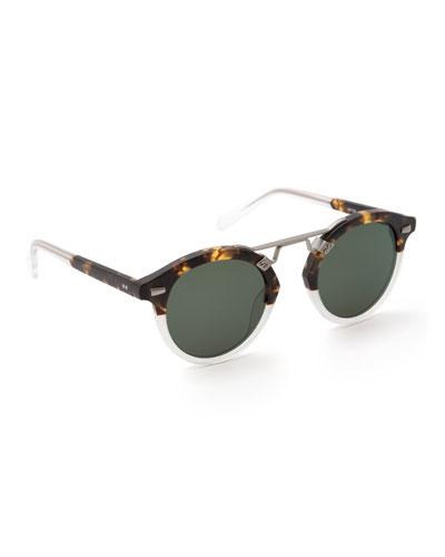STL II Oversized Round Acetate Sunglasses