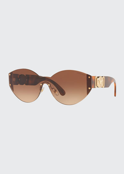 Rimless Round Metal Sunglasses