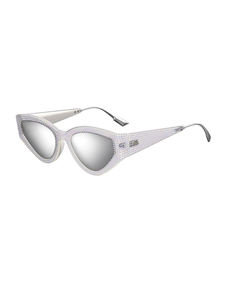 Image 1 of 1: CatStyleDior1 Crystal Cat-Eye Sunglasses