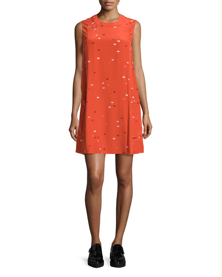 GREY by Jason Wu Sleeveless Dash-Print Shift Dress,