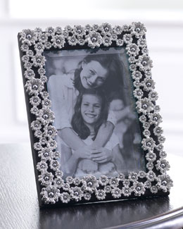 "L'Objet 8"" x 10"" Platinum-Plated Pearl Flower Frame"