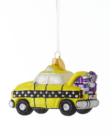 """BG Taxi with Presents"" Christmas Ornament"