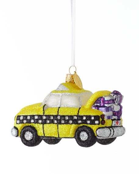 """BG Taxi with Presents"" Christmas Ornament"